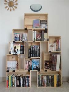 Caisse De Vin En Bois : voici ma biblioth que diy faite avec des caisses de vin ~ Farleysfitness.com Idées de Décoration