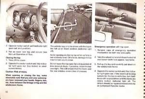 86 Cab  Electric Top Help