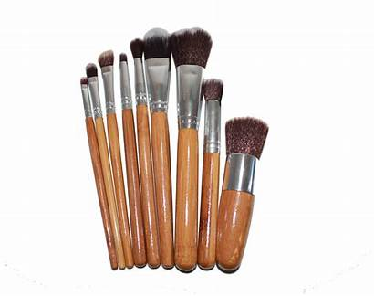Bamboo Brush Makeup Mineral Brushes Brown Starter