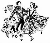 Dance Polka Square Clip Dancing Clipart Polish Cliparts Funny Dancers Hoedown Library Ohio Collection sketch template