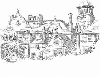 Buildings Sketch Draw Sketches