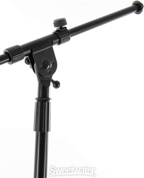 on stage stands ms7701b boom microphone stand package 6 stands with bag sweetwater