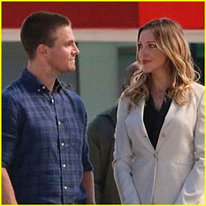 Stephen Amell & Katie Cassidy Film Scenes for Upcoming ...