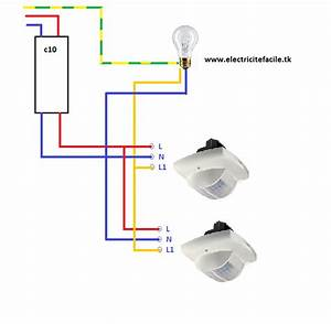 Branchement Detecteur De Mouvement : raccordement de d tecteurs de presence schema electrique ~ Dailycaller-alerts.com Idées de Décoration