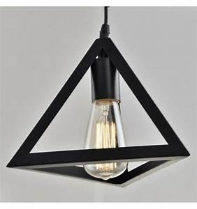 Suspension Noire Design : suspension design noire en m tal corner ~ Teatrodelosmanantiales.com Idées de Décoration