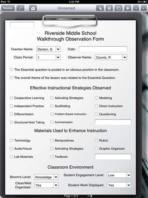 classroom observation form for teachers gallery classroom observation forms for teachers
