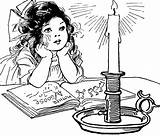 Candle Etc Clipart sketch template
