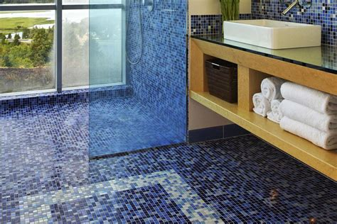 glass mosaic tile floor the pros and cons of mosaic glass tile flooring