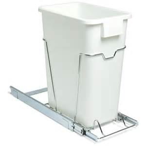 sliding cabinet trash can 36 quart in cabinet trash cans