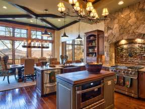 Primitive Decor Kitchen Cabinets by An Open Transitional Design Creates Easy Flow Between The