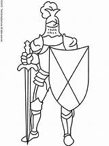 Sword Shield Knight Armor Coloring Pages Colouring Printables sketch template
