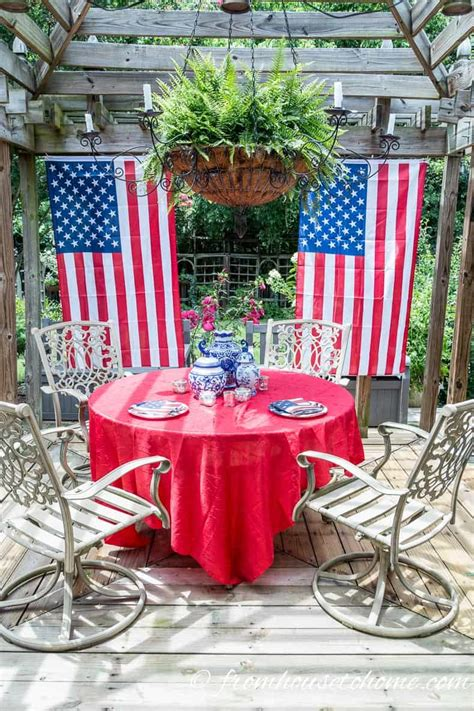 Easy July Outdoor Decorations Entertaining Diva