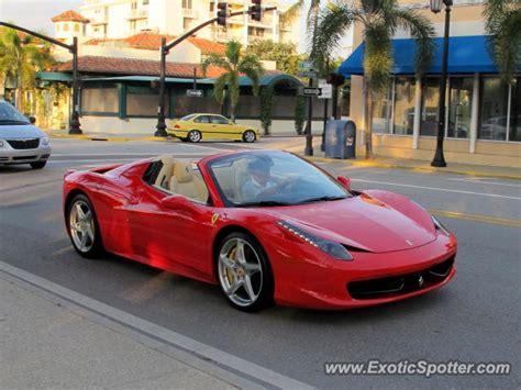 Turn heads with a ferrari for hire in florida. Ferrari 458 Italia spotted in Palm Beach, Florida on 12/29/2012, photo 2