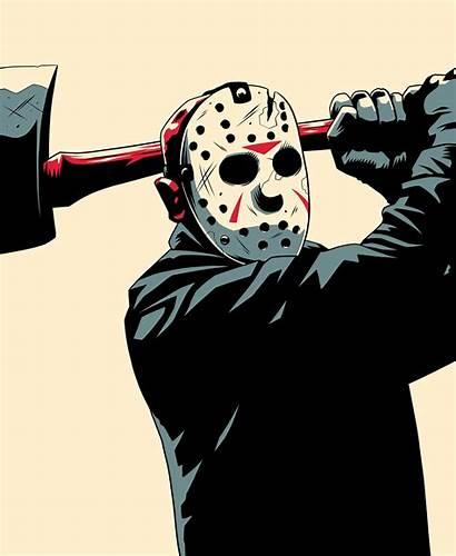 Jason Horror Friday Monster 13th Behance Drawing