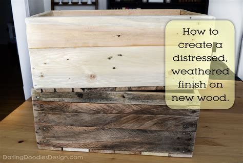 how to distress wood reclaimed pallet crates part 2 darling doodles