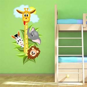 Wandtattoo Tiere Kinderzimmer : 040 wandtattoo messlatte ma stab kind kinderzimmer safari ~ Watch28wear.com Haus und Dekorationen