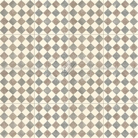 Checkerboard cement floor tile texture seamless 13428