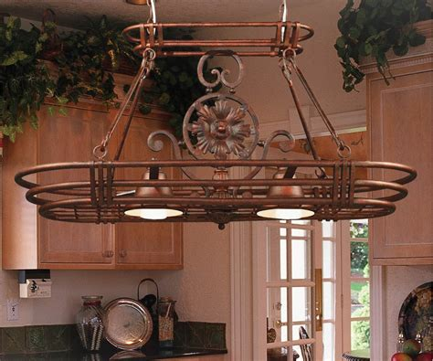 amazoncom kenroy home gc dorada  light kitchen island pot rack   height