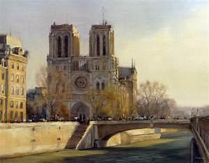 Peinture De Paris Poissy : peinture tableau notre dame de paris huile sur toile ~ Premium-room.com Idées de Décoration