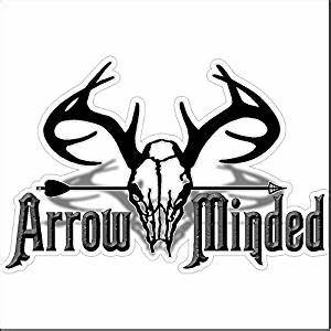 Amazoncom arrow mindedfunny hunting decal deer car for Kitchen colors with white cabinets with funny bumper stickers for trucks