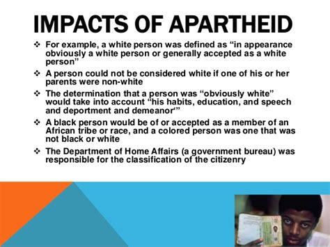 How Did Apartheid Affect South Africa Effects Of