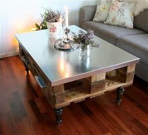 Table De Salon Originale : table basse en palette 50 id es originales ~ Preciouscoupons.com Idées de Décoration