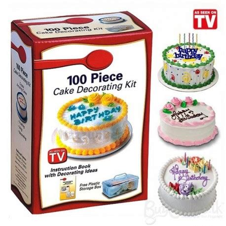 Cake Decorating Shows On Tv - 100 cake decorating kit with book