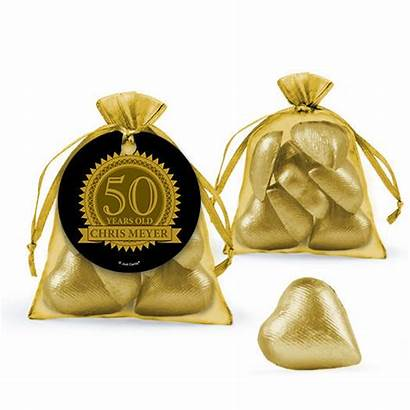 Birthday Personalized 50th Favors Bag Candy Filled