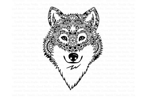 Compatible with cricut, scanncut and. Wolf SVG, Wolf Head SVG, Wolf Mandala SVG files By Doodle ...