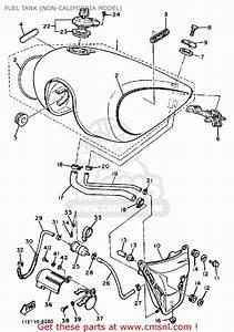 Yamaha Xv1100 Virago 1988  J  Usa Fuel Tank  Non