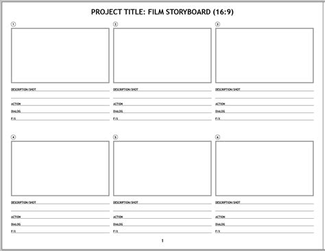 Design Storyboard Template by Indesign Template Of The Month Storyboard
