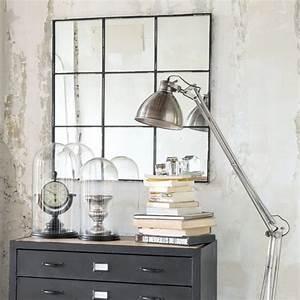Miroir Metal Noir : miroir en m tal noir h 90 cm tobias maisons du monde ~ Teatrodelosmanantiales.com Idées de Décoration