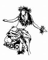 Hula Hawaiian Coloring Pages Dance Lei Drawing Performing Tattoo Islands Dancing Coloringsky Polynesian Drawings Aloha Printable Colouring Tiki Sheet Island sketch template