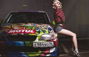 Обои car, девушка, желтый, секси, зеленый, green, тату