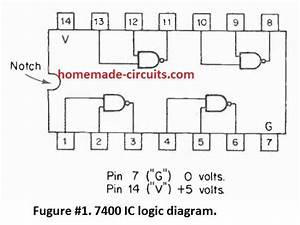 Simple Circuits Using Ic 7400 Nand Gates