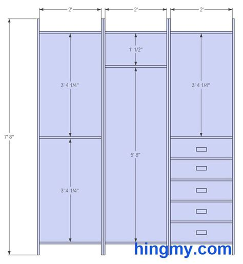 closet bar height standard closet measurements this design is meant be as