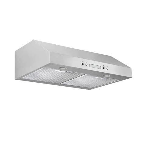 cosmo 30 in ductless under cabinet range hood in