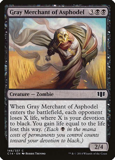 zombies merchant gray mtg magic asphodel gathering zombie card mana plus three creatures