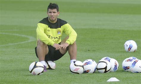 Sergio Aguero on bench for Manchester City v United ...