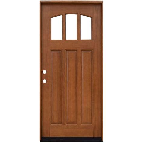 home depot craftsman door steves sons 32 in x 80 in craftsman 6 lite stained
