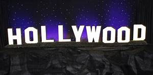 Hollywood Sign Town & Country Event Rentals