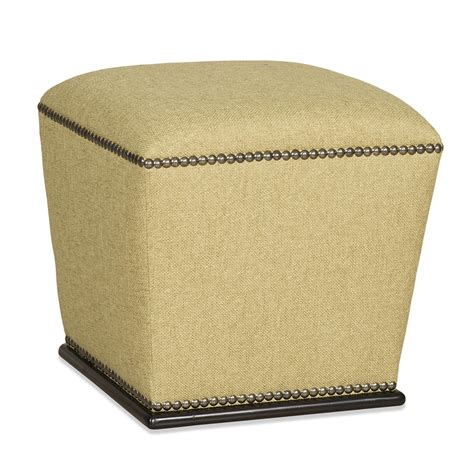 ottoman with nailhead trim transitional accent ottoman with plinth base and nailhead