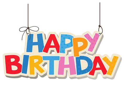 Hanging Colorful Happy Birthday Png Clipart Picture