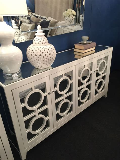 Mirrored Sideboards And Buffets by New Stockton Mirror Mirrored Buffet Sideboard Chest White