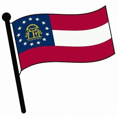 Georgia Clip Clipart Flag State Ga Cliparts