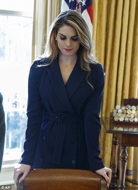 Stoic Hope Hicks dresses in black after Rob Porter firing ...