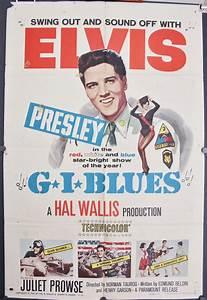 GI BLUES, Original Vintage Elvis Presley Musical Movie Poster