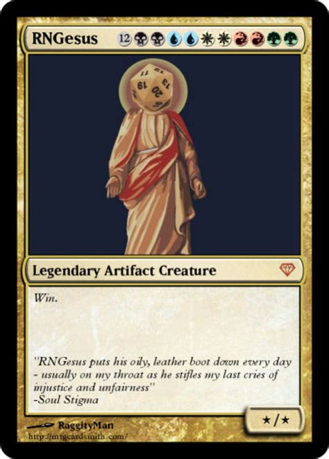 Magic Card Meme - magic the gathering card rngesus know your meme
