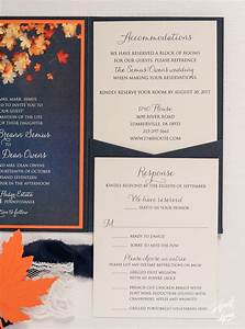 alyssa michaels fall themed pocketfold wedding With michaels fall wedding invitations