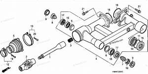 Honda Atv 2001 Oem Parts Diagram For Swingarm